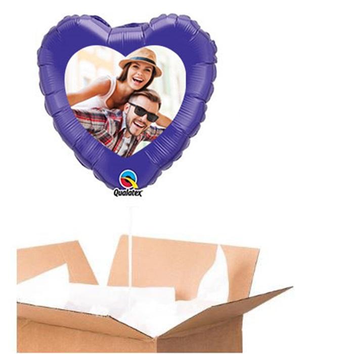 Sevgiliye Özel Mor Kalp Uçan Balon 90 Cm