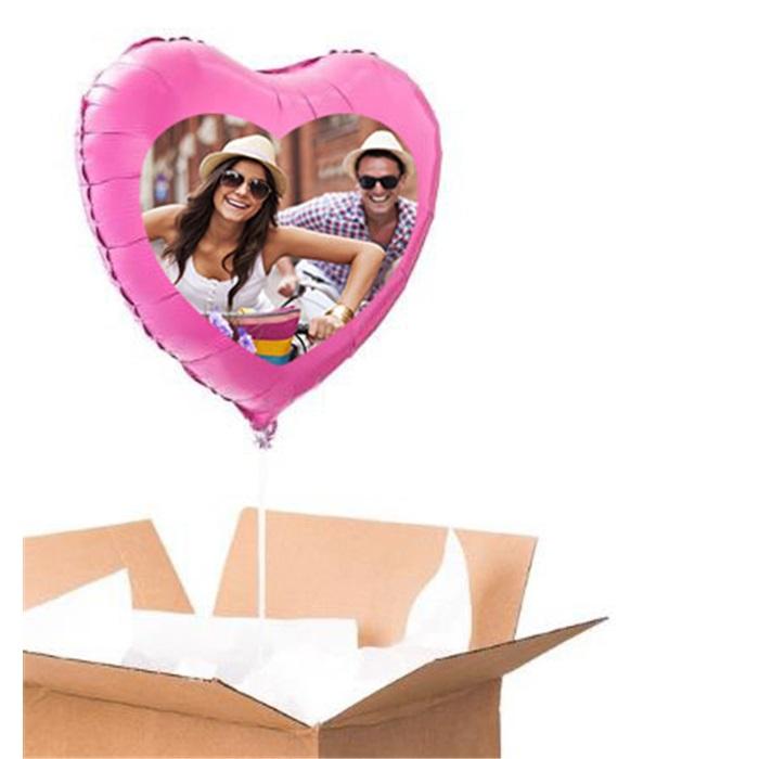 Sevgiliye Özel Pembe Kalp Uçan Balon 90 Cm