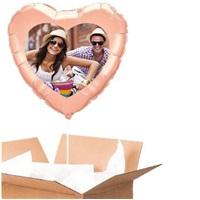 Sevgiliye Özel Rose Kalp Uçan Balon 60 Cm