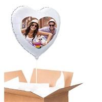 Sevgiliye Özel Gümüş Kalp Uçan Balon 60 Cm