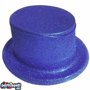Lacivert Simli Parti Şapkası