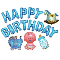 Happy Birthda Mavi Baby Folyo Balon