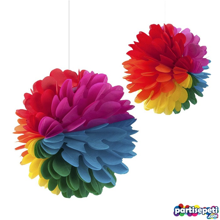 Renkli Çiçek Petek Süs