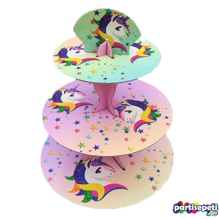 Unicorn Temalı Kek Standı