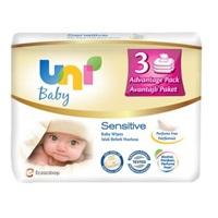 Uni Baby Yenidoğan 50 Yaprak 3'lü Paket Islak Mendil