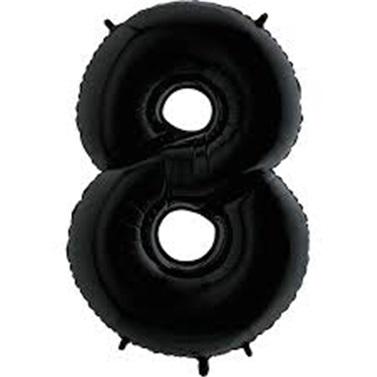 Siyah Rakam 8 Folyo Balon