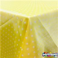 Kumaş Sarı Puanlı Masa Örtüsü