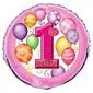 1 Yaş Temalı Kız Folyo Balon