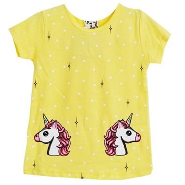 Unicorn Sarı Yazlık Tişört Eşofman Takımı