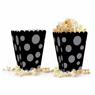 Gümüş Benekli Popcorn Kutusu