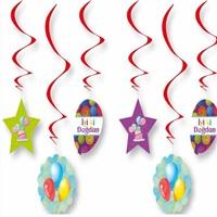 Renkli Happy Birthday Sarkıt Süs