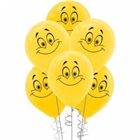 Gülen Yüz Lateks Balon 100 Adet
