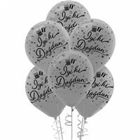 Gümüş İyi Ki Doğdun Latex Balon 100 Adet