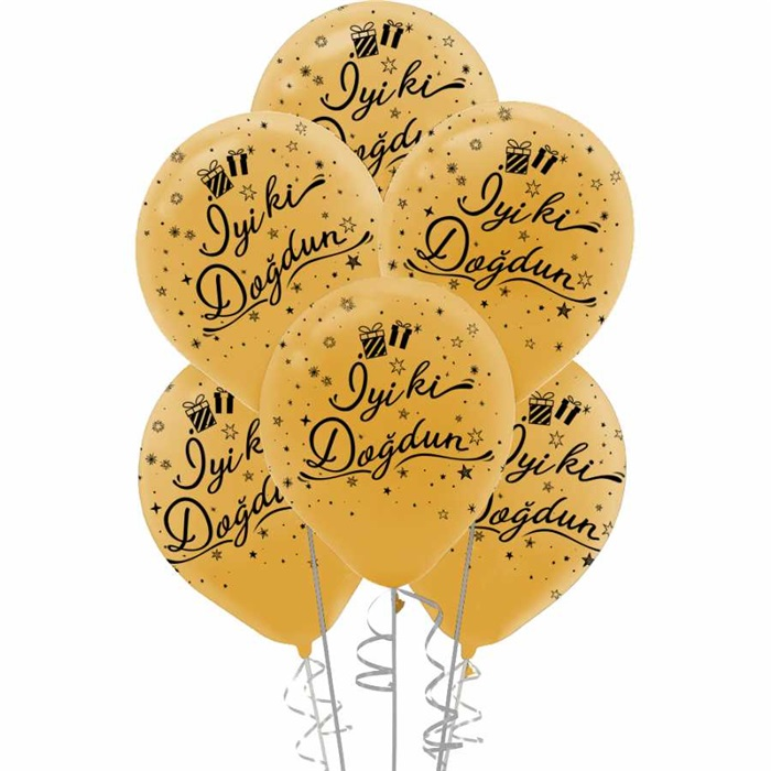 Gold İyi Ki Doğdun Lateks Balon