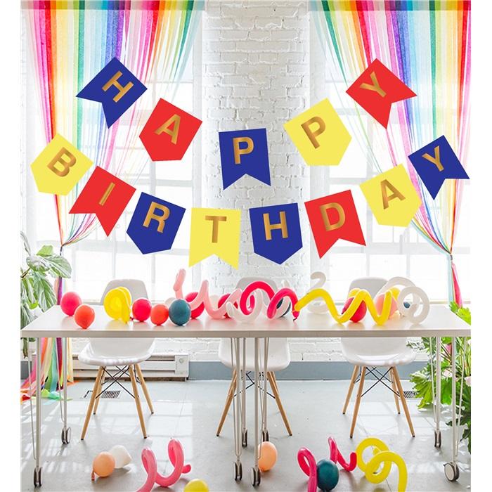 Renkli Happy Birthday Flama