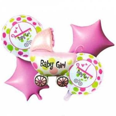 Baby Shower Kız Folyo Balon Seti