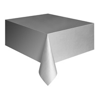 Gümüş Plastik Masa Örtüsü