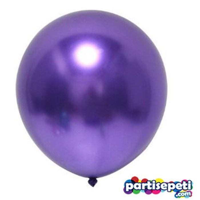 Krom Balon Metalik Mor
