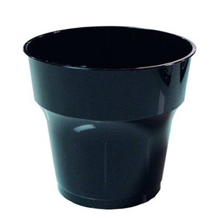 Siyah Kalın Mika Bardak