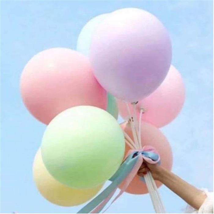 Makaron Pastel Soft Balon Mor Renkli