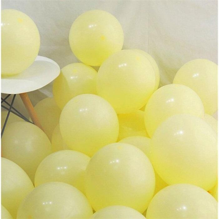 Makaron Pastel Soft Balon Sarı Renkli