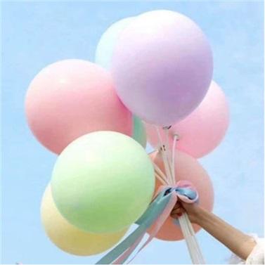 Makaron Pastel Soft Balon Yeşil Renkli