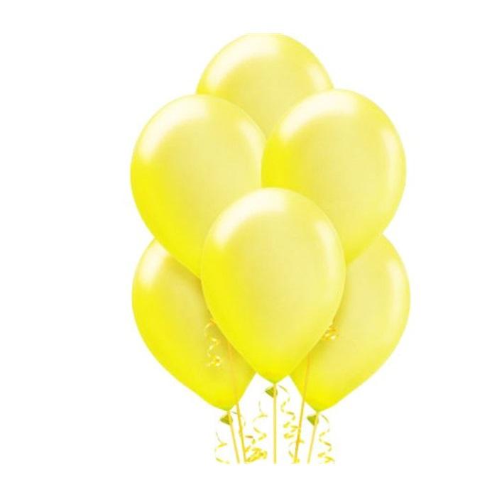 Makaron Pastel Soft Balon Sarı Renkli 100 Adet