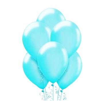 Makaron Pastel Soft Balon Mavi Renkli 100 Adet