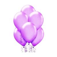 Makaron Pastel Soft Balon Mor Renkli 100 Adet
