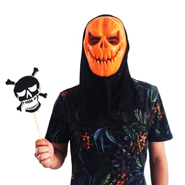 Halloween Konuşma Balonu Kuru Kafa