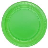 Yeşil Plastik Tabak 26 Cm