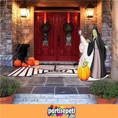 Cadılar Bayramı Dekorasyon Cadı Ayaklı Pano