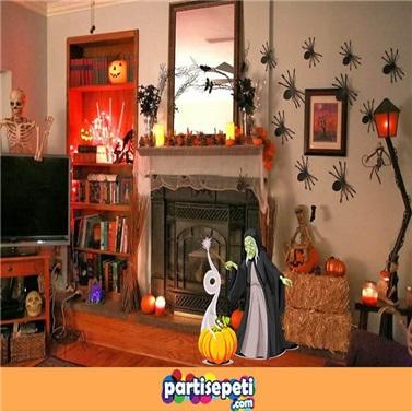 Cadılar Bayramı Cadı Ayaklı Pano