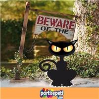 Cadılar Bayramı Kedi Ayaklı Pano Süs