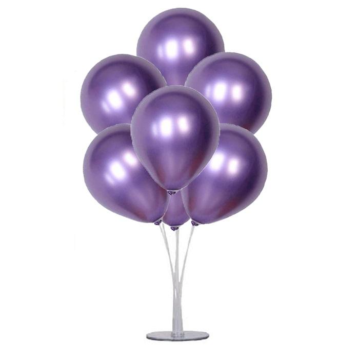 Cadılar Bayramı Mor Ayaklı Balon Standı