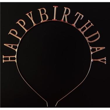 Rose Renkli Happy Birthday Taç