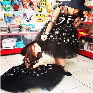 Cadılar Bayramı Siyah Cadı Kostümü Çocuk
