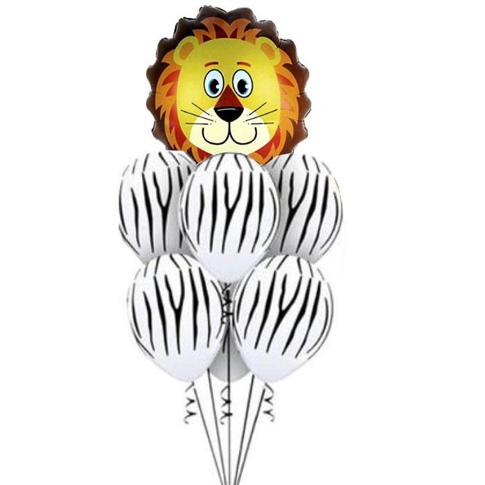 Safari Beyaz Zebralı Kaplan Balon Seti