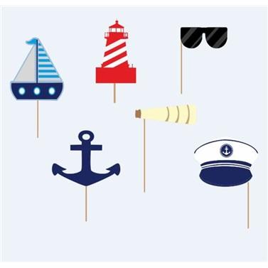 Denizci Temalı Konuşma Balonu Seti
