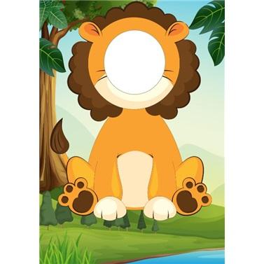 Safari Aslan Ayaklı Fotoğraf Çerçevesi