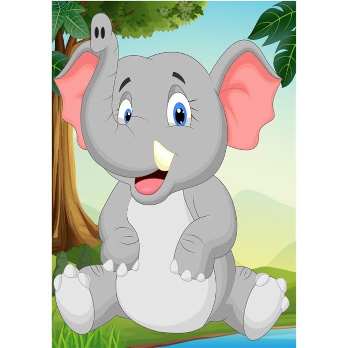 Safari Fil Ayaklı Pano