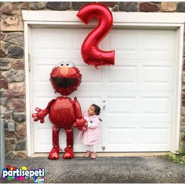4 Rakam Folyo Balon Kırmızı