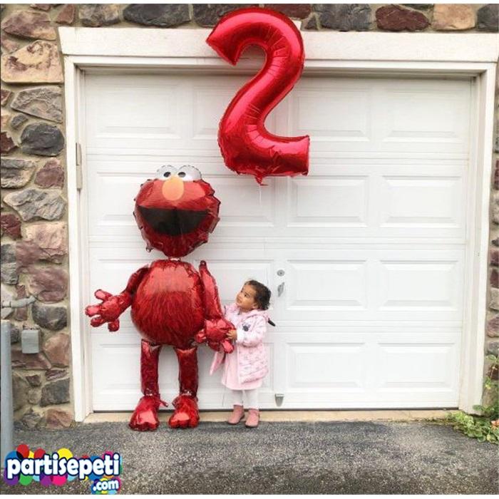5 Rakam Folyo Balon Kırmızı