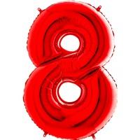 8 Rakam Folyo Balon Kırmızı