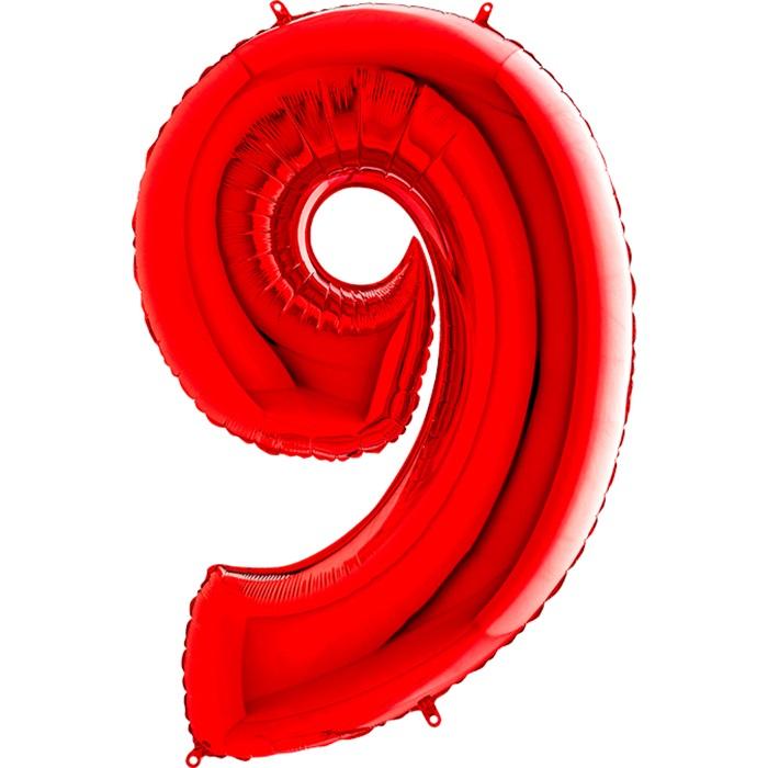 9 Rakam Folyo Balon Kırmızı