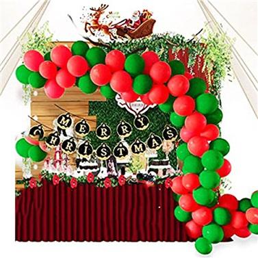 Zincir Balon Seti Yeşil - Kırmızı