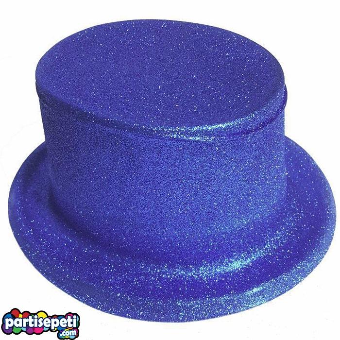 Simli Parti Şapkası Lacivert