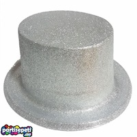 Simli Parti Şapkası Gümüş