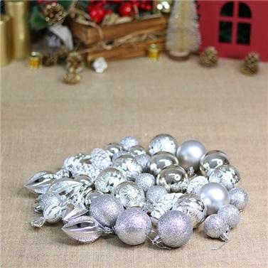 Yılbaşı Ağacı Gümüş Karışık Top Süs
