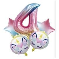 Unicorn 4 Yaş Folyo Balon Seti